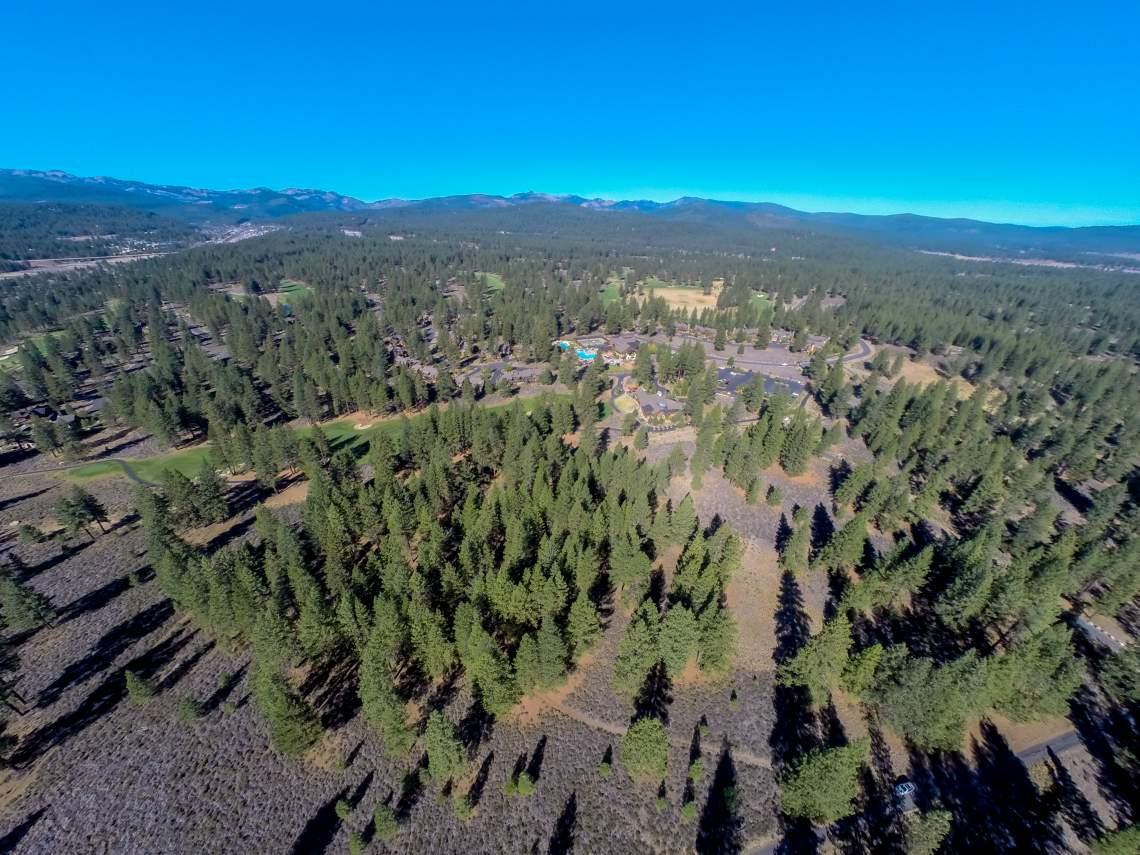 Woodlands aerial looking west